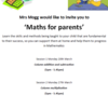 Maths for Parents Event